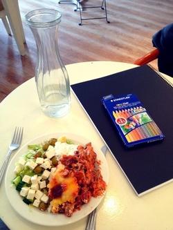 Lunchen på Fabbes Cafe - varmt rekommenderad!